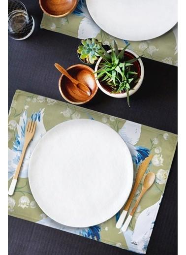 The Mia Leylek Amerikan Servis 2 Li Set - 50 x 30 Cm - Yeşil Yeşil